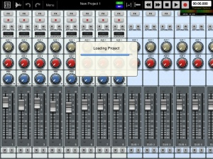 Auria loading - mixer screen