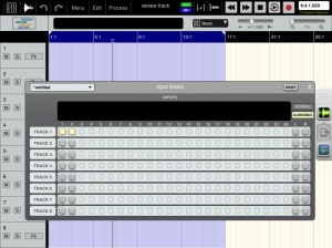 Input matrix set up for Audiobus recording