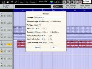 Mixdown & Export in one operation